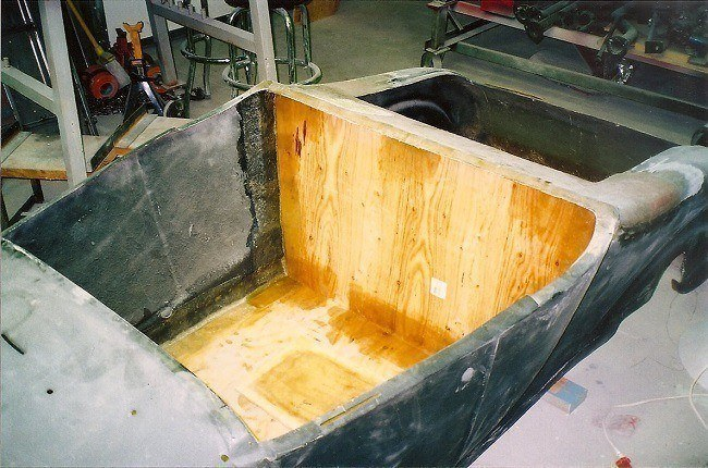 fiberglass body floor installation