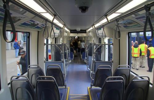 Interior of new Siemens LRV
