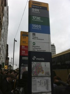 Crowded Bus stops at Norreport Station