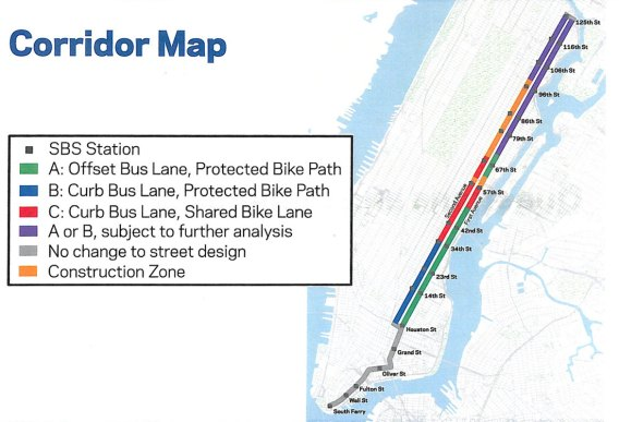Nyc Subway Map With Second Avenue.Will 2nd Ave Get Its Protected Bike Lane After Subway Construction