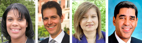 The four Democrats running to replace Eric Schneiderman in the State Senate - - met last night to debate transportation policy. They were joined by Green Ann Roos, not pictured.
