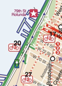 The city's bike map, co-published by the Parks Department, clearly shows the 72nd Street path as part of the bike system.