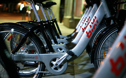 Montreal's Bixi bike-sharing system. Photo: __ via Flickr.