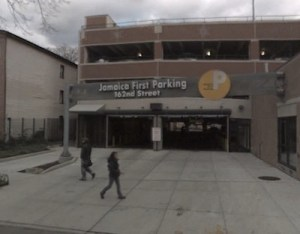 The well-connected Jamaica First Parking garage earned a slew of tax exemptions, ostensibly for reducing traffic congestion. Image: Google Street View.