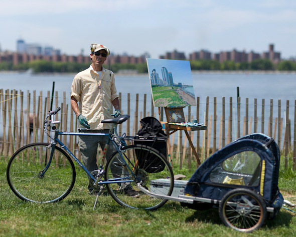 Bike Portrait of Andrew the painter for Why I Ride series by Dmitry Gudkov