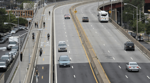 People who walk and bike the Pulaski Bridge may have more space by summer's end.