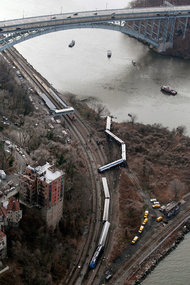 The number of people injured in the Metro-North crash is a little more than the number of pedestrians and cyclists injured by motorists in New York City every day. Photo: AP via New York Times