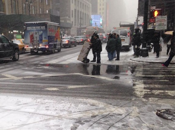 Seventh Avenue and 36th Street. Photo: ##https://twitter.com/Tri_State/status/425706540423991297##@Tri_State##