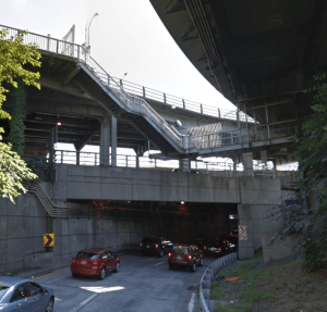 Say goodbye to these stairs on the George Washington Bridge path...in 2024. Photo: Google Maps