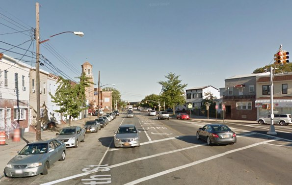 Drivers have killed at least five pedestrians and cyclists on Rockaway Boulevard since January 2013. Image: Google Maps