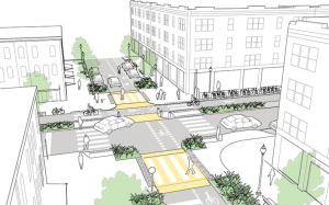 NACTO guidelines call for streets that accommodate all users. Is NYS DOT interested? Image: Urban Street Design Guide