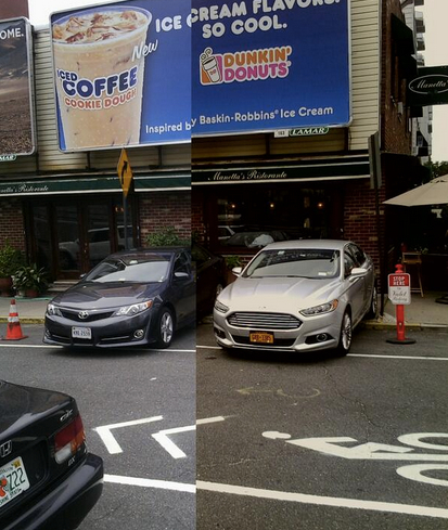 Manetta's Restaurant in Long Island City. Care for a nice pinot noir and some tailpipe exhaust with your entrée? Photo: ##https://twitter.com/alter_spaces/status/487685561558519808/photo/1##@alter_spaces##