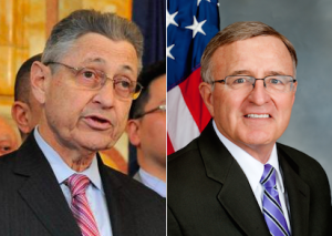 It's up to Speaker Sheldon Silver, left, and Senator John DeFrancisco, right, to stop Cuomo's clean water fund raid. Photos: NY Legislature