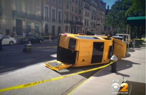 The cab driver who killed a woman on the Upper East Side last week may or may not lose his hack license under Cooper's Law. Image: WCBS