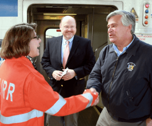 Dean Skelos, right, is back as the sole leader of the State Senate. What will it mean for the MTA? Photo: MTA/Flickr