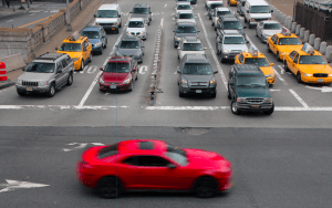 Toll reform is more popular than Bloomberg's congestion pricing plan, according to new poll data from the plan's backers. Above, drivers exiting the Queensboro Bridge. Photo: Canadian Pacific/Flickr