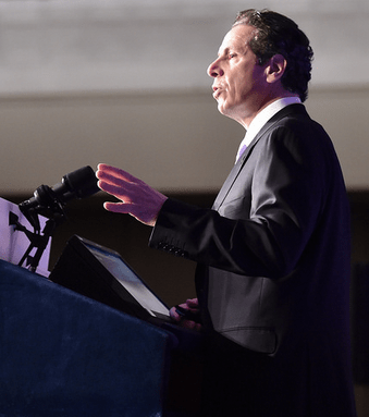 Governor Cuomo talks transportation this morning. Photo: Governor's Office/Flickr