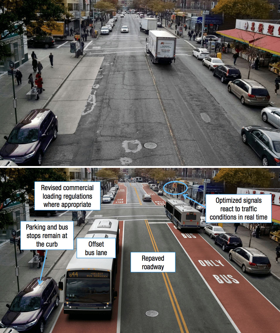 Q44 Select Bus Service: Bus Lanes for Flushing and Jamaica