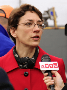 DOT Commissioner Polly Trottenberg says her agency will propose a bike lane on Amsterdam Avenue in the next couple months. Photo: NYC DOT/Flickr