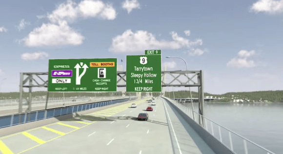 This is Cuomo's infrastructure legacy. Rendering: New NY Bridge/YouTube