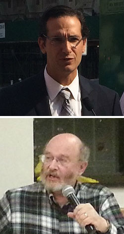 DOT Deputy Commissioner Ryan Russo (top) is sounding a lot like CB 7 bike lane opponent Dan Zweig (bottom). Photos: Stephen Miller