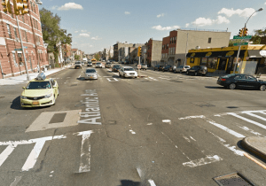 Rodney Graham, 49, was killed early Sunday while crossing this dangerous intersection on Atlantic Avenue in the rain. Image: Google Maps