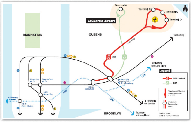 Laguardia Subway Map.Mta To Boost Frequency Of Q70 To Laguardia Streetsblog New York City