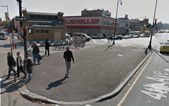Forest City Ratner and DOT want to turn Times Plaza by the Barclays Center into an attractive public space. Photo: Google Maps