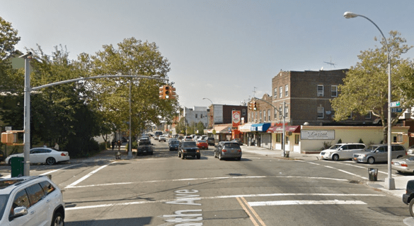 Giovani Romano was charged with failing to yield for fatally striking Alfiya Djuraeva at 20th Avenue and Bath Avenue in Brooklyn. He was not charged for taking her life. Image: Google Maps