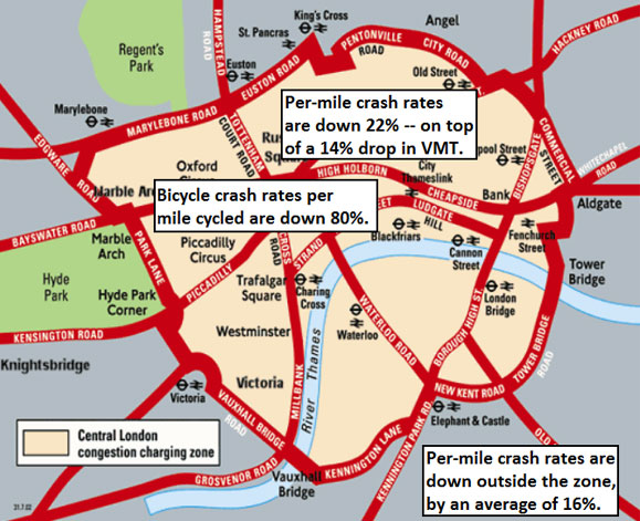 find three cities not mentioned in the text which have a congestion charge