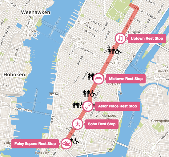Click for interactive Summer Streets 2016 map. Image: NYC DOT