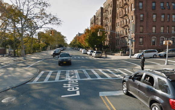 A private trash carter struck and critically injured a cyclist at this intersection last night. Photo: Google Maps