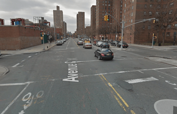 A Con Ed employee was found guilty of careless driving after he struck and killed 88-year-old Stella Huang while turning left at Avenue C and E. 16th Street. The NYS DMV revoked his license for one month. Image: Google Maps