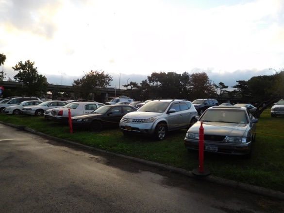 Once there were green fields. Now it's U.S. Open spectator parking. Photo: Rich Furlong