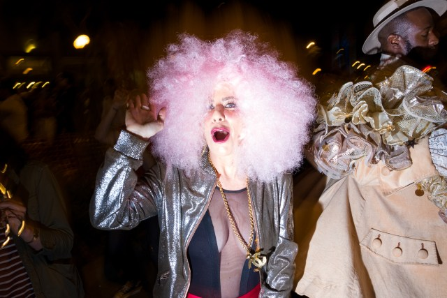Halloween Street Photography - Pink Hair Lady