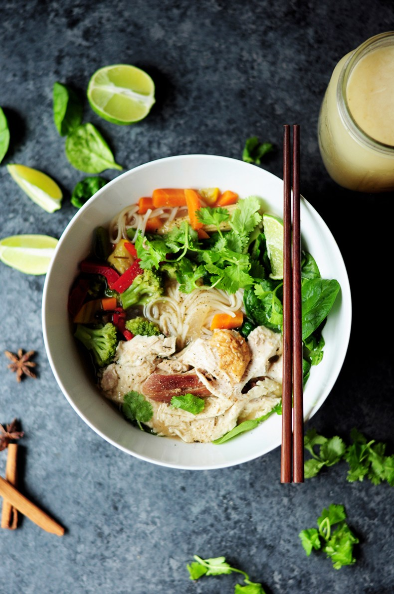 This turkey pho recipe is unbelievably quick to put together and it tastes darn authentic. Next time you have leftover turkey, you know what to do.