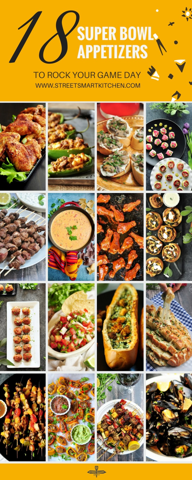 Everyone wants to devoursingle-bite Super Bowl appetizers while they watch the biggame. These awesome recipes will get your guests just as excited about the food as the football.