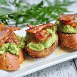 Avocado on toast with bacon and maple syrup