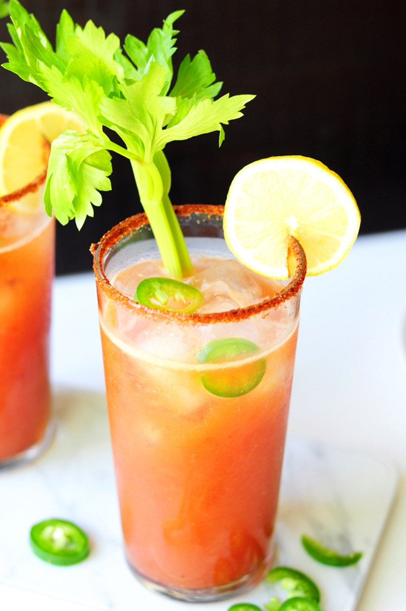 Get the health benefits of bone broth in your next cocktail! This Bloody Bull recipe gives you the perfect combination of a Bloody Mary and a Bullshot, with savory and nutritious bone broth added in.