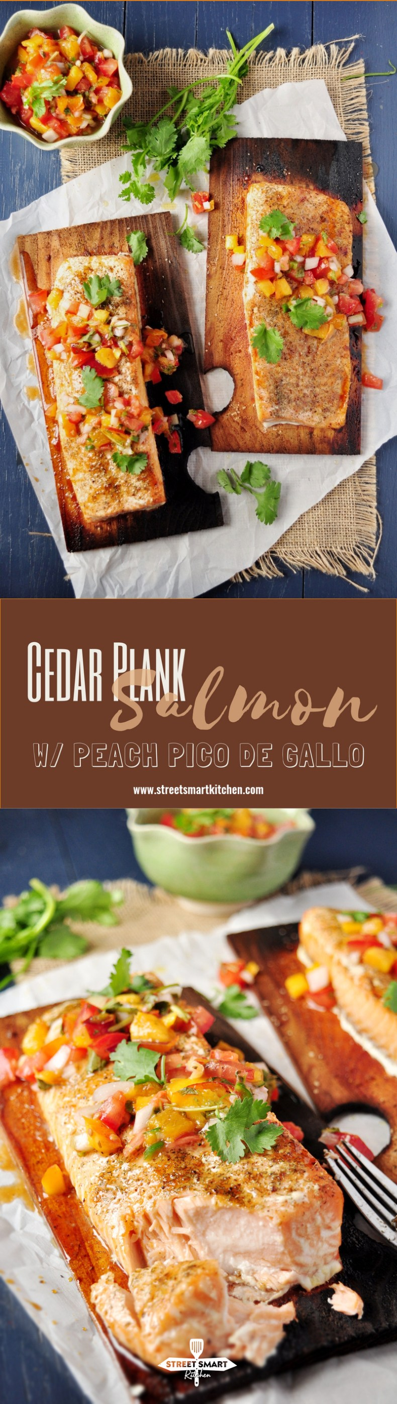 Last year, I got introduced to cedar plank for the first time in my life. We were in Jacksonville, FL where my brother-in-law, Felix taught me how to grill like a boss. Needless to say, the best way to grill fish is to put it on a cedar plank, which allows the fish to stay incredibly tender and moist while grilling. And it picks up the woodsy flavors from the cedar along with the smoky flavors from the grill.