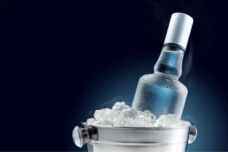 Chilled Bottle of Vodka
