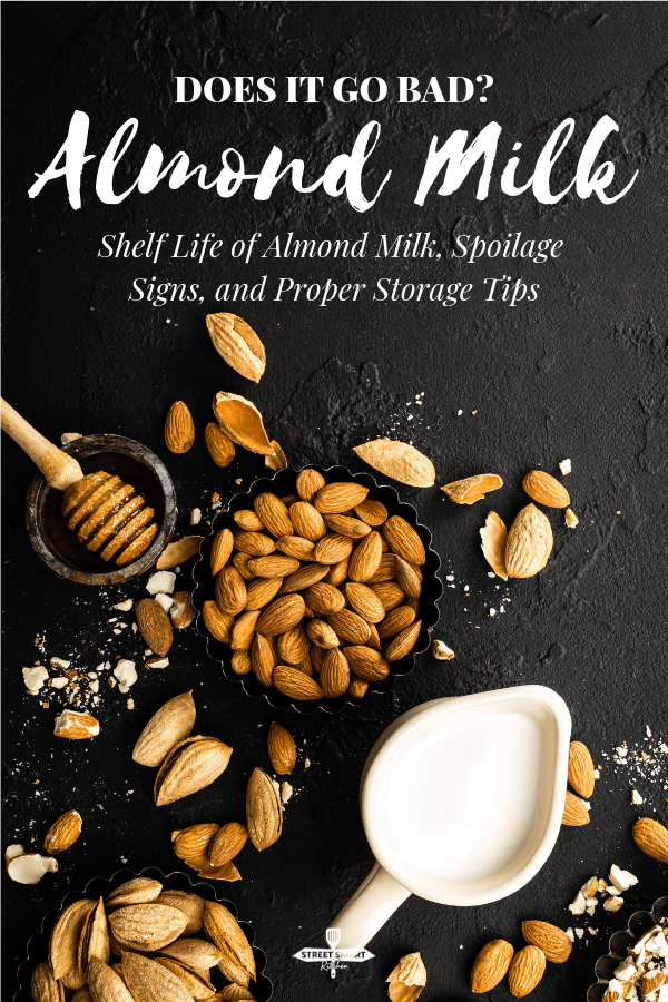 Does almond milk go bad? Yes. Almond milk lasts a few days longer than fresh cow's milk, but it can go bad. Discover how long before it spoils, and learn the signs of bad almond milk.