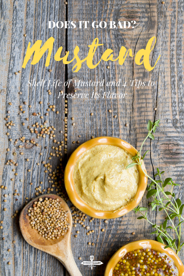 "Does mustard go bad? No, mustard doesn't go bad, but it can lose its flavor in the long run, or when not properly stored. Find out the shelf life of mustard, the signs of a mustard gone old, and how to keep the ""kick"" of its flavor."