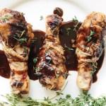 Honey Balsamic Sous Vide Chicken Legs