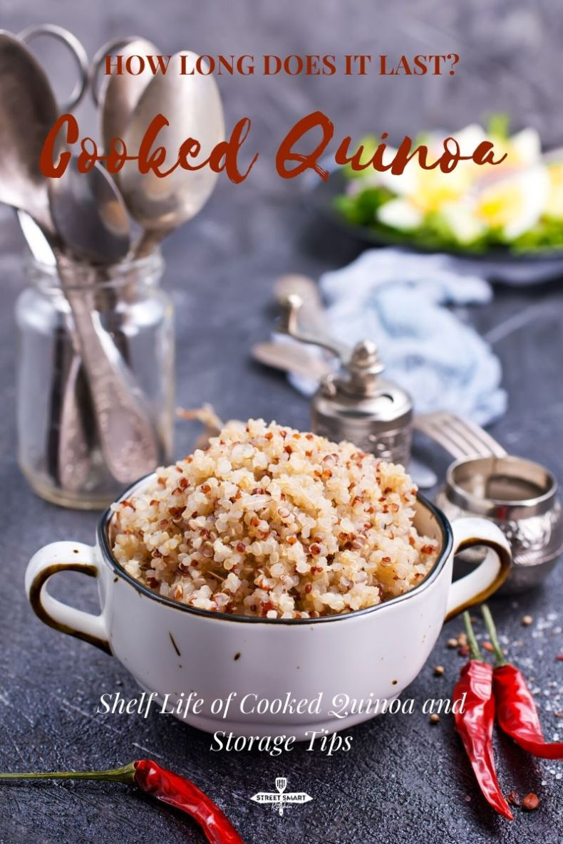 How long does cooked quinoa last? With proper storage, cooked quinoa can last for up to a week in the fridge and eight to twelve months in the freezer.