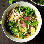 Learn how to make pho with zucchini noodles and bone broth in just 30 minutes.