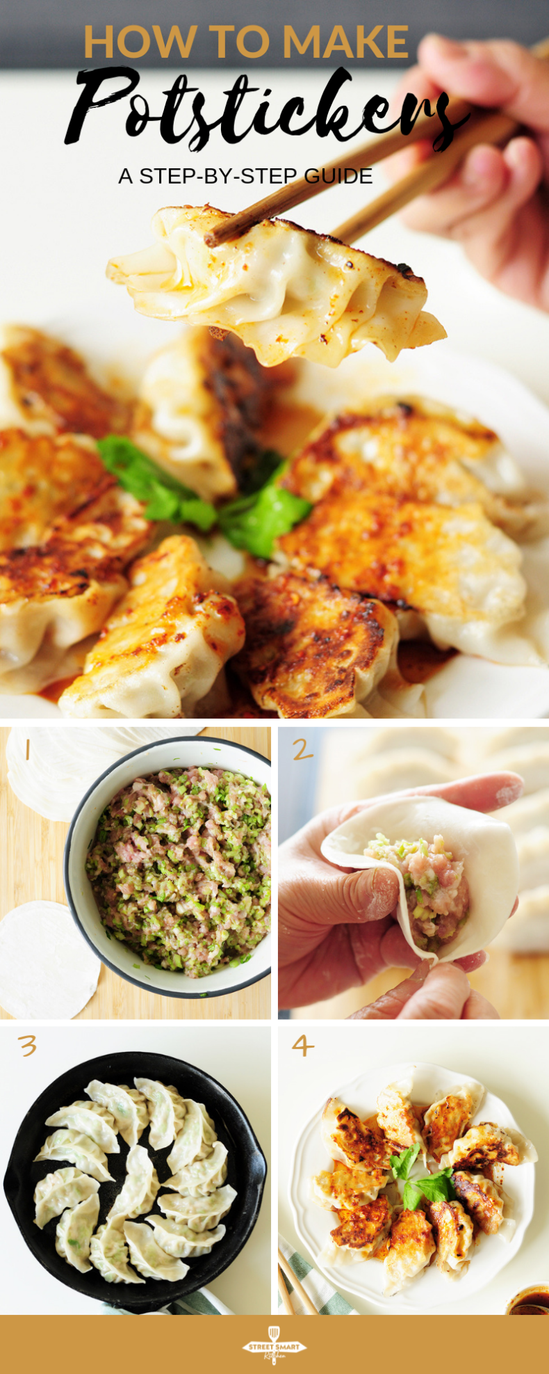 Potstickers are one of the classics in Chinese cuisine. They also make a wonderful, healthy freezer meal for a whole family. Here's a step-by-step guide to homemade potstickers.