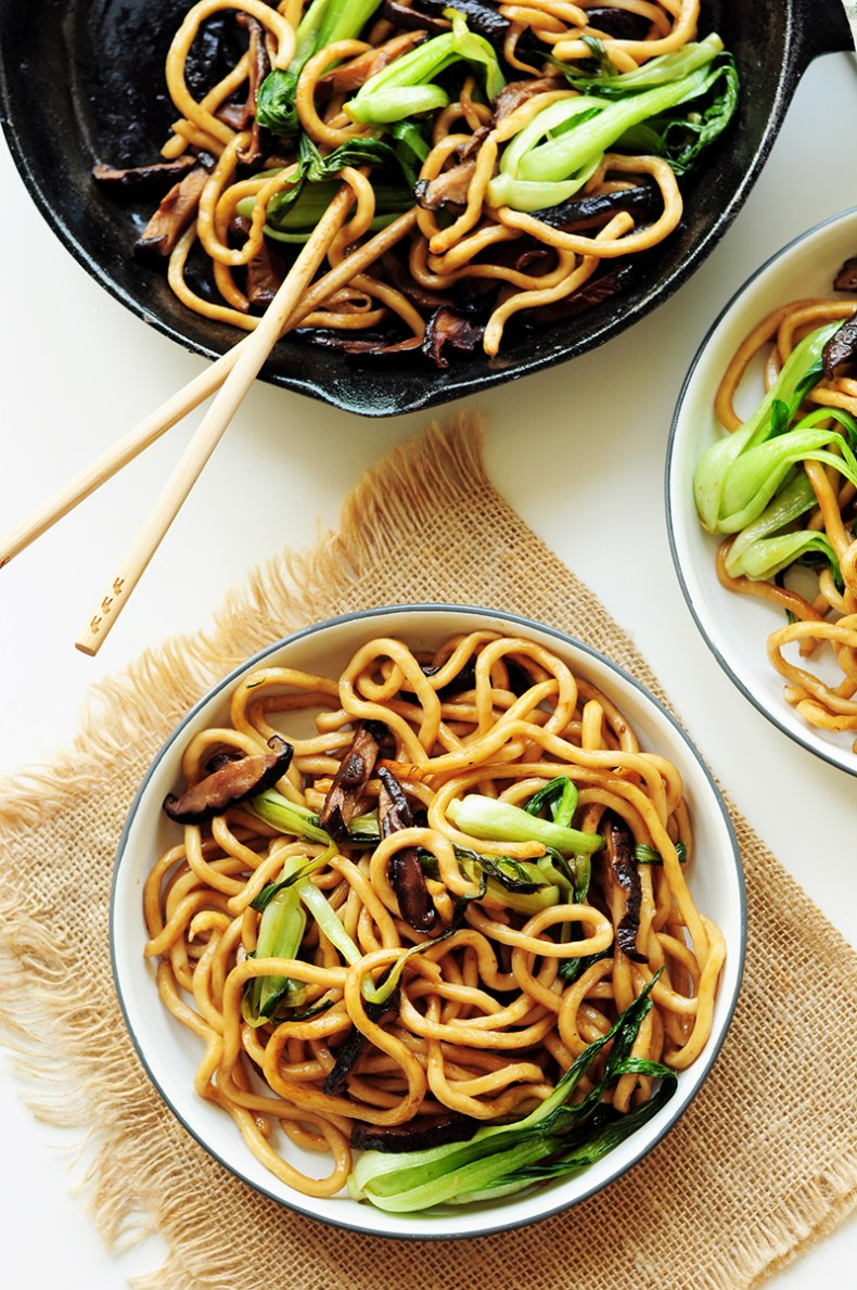 These pan-fried Shanghai noodles are perfect when all you want is to slurp some noodles. They're 100% vegan and require only 6 ingredients & 20 mins.