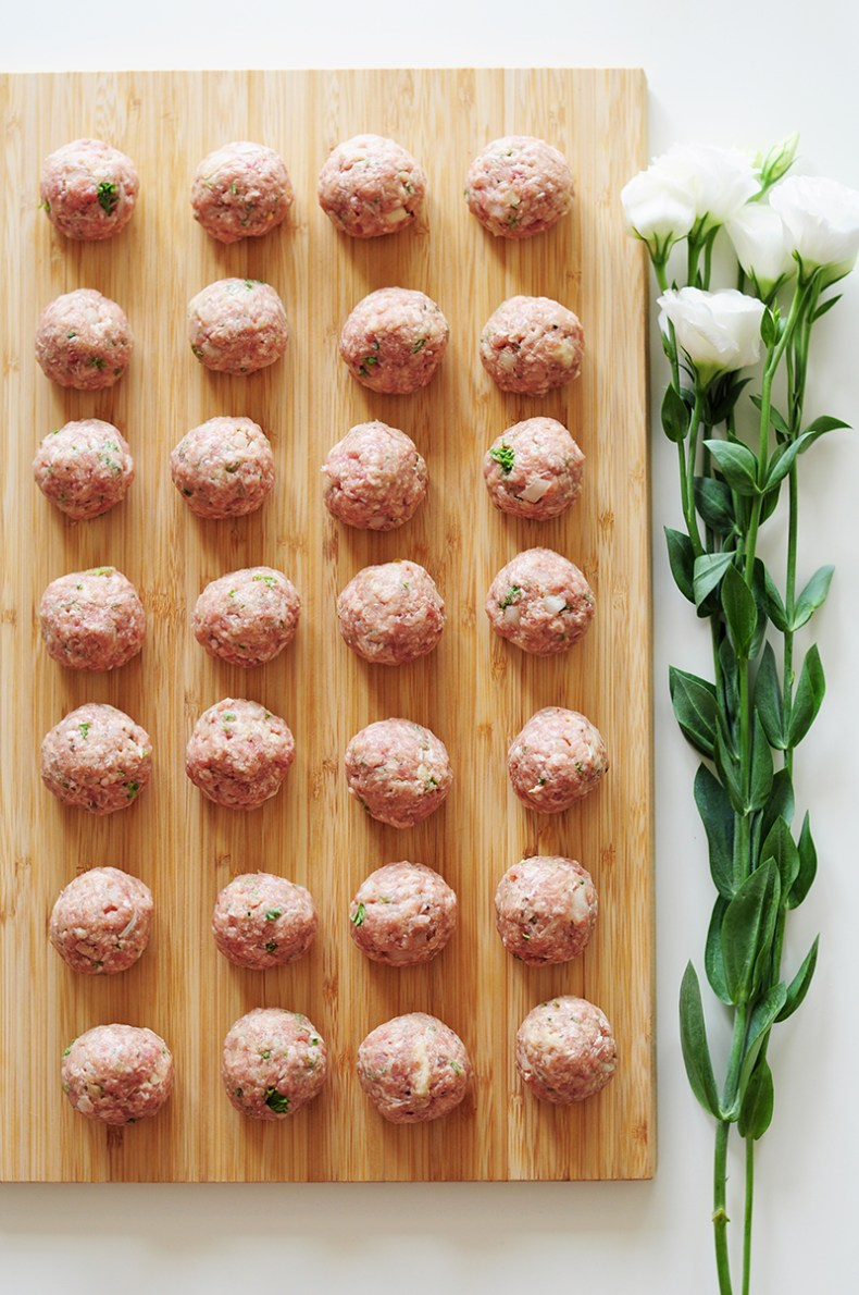 Topped with pasta sauce and parmesan cheese, these hearty, savory sous vide meatballs will satisfy your comfort food cravings any day of the week.