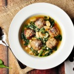 Spinach Meatball Soup